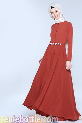 Tesettürlü elbise modellerinde renk, tesettür elbise, tesettür elbise modelleri