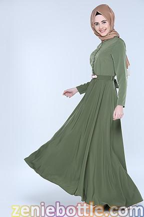 Tesettürlü elbise modellerinde renk, tesettür elbise